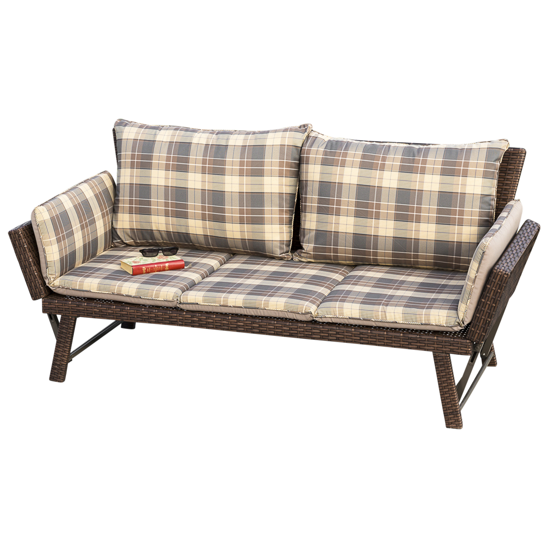 liegesofa funktionsliege schlafbank venezia 204cm rattan. Black Bedroom Furniture Sets. Home Design Ideas