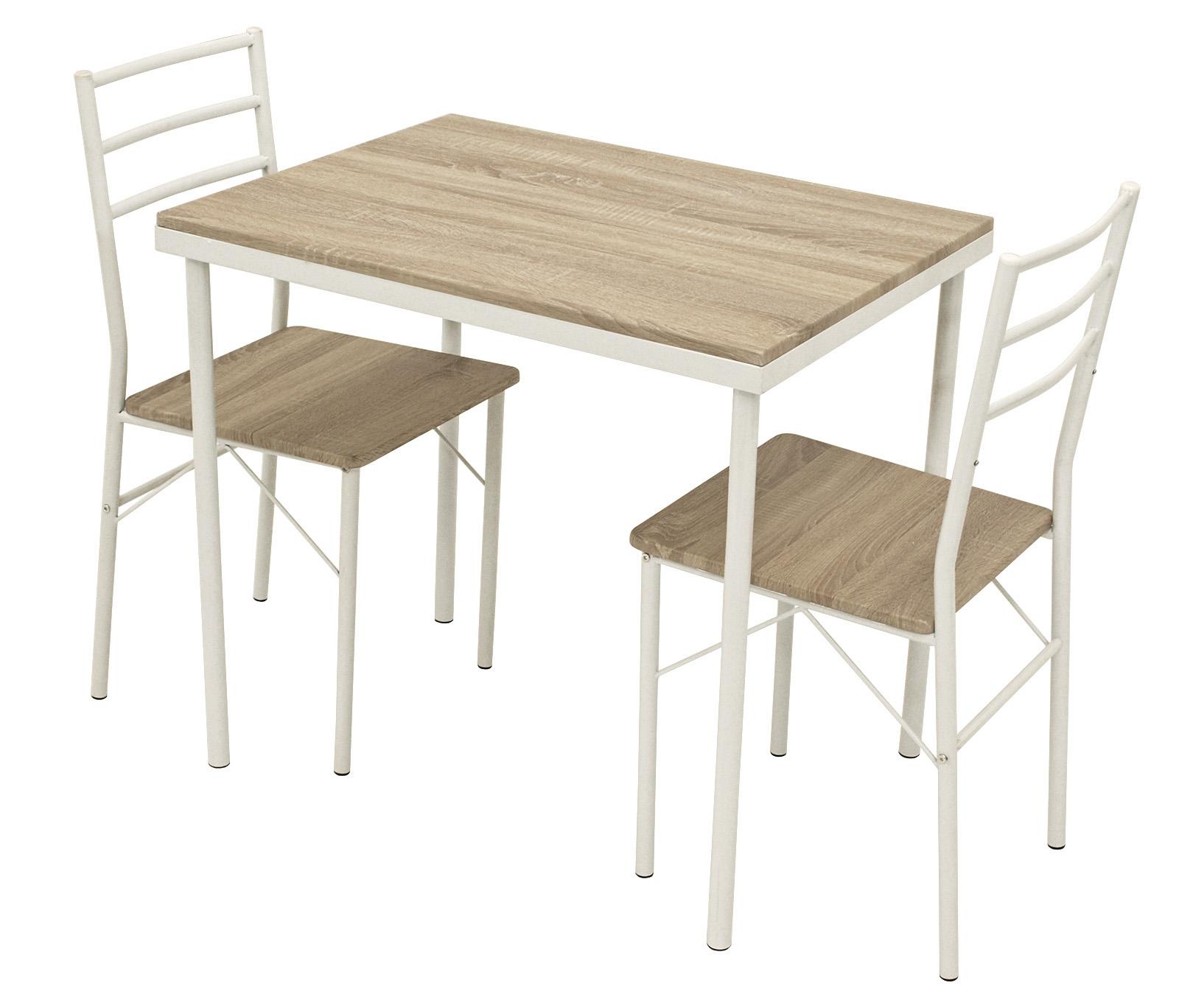 Essgruppe Tischgruppe Frühstücksset Stuhl Küchenset KÖLN 3-teilig ...