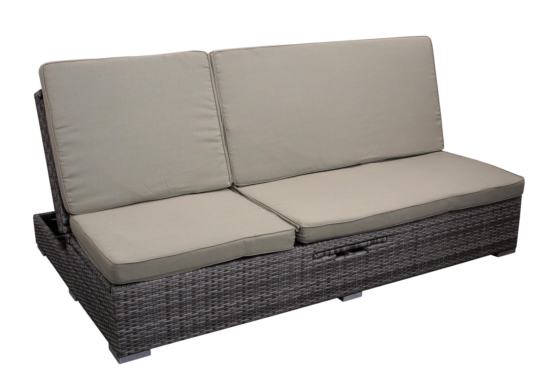 gartenliege doppelliege rattanliege funktionsliege gartensofa calero 2 wahl ebay. Black Bedroom Furniture Sets. Home Design Ideas