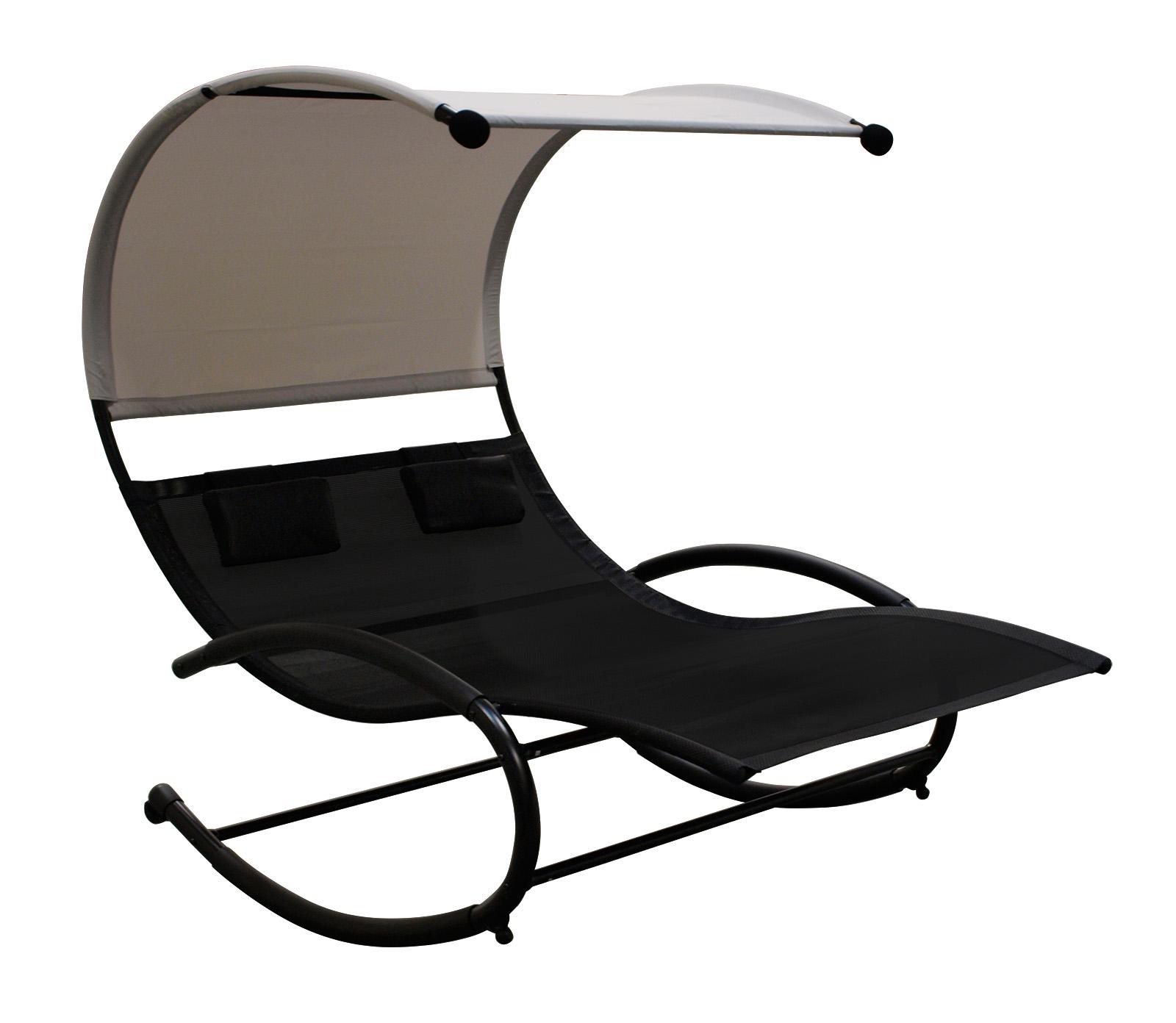schaukelliege liegebett sonnenliege ravenna f r 2 personen schwarz 2 wahl ebay. Black Bedroom Furniture Sets. Home Design Ideas