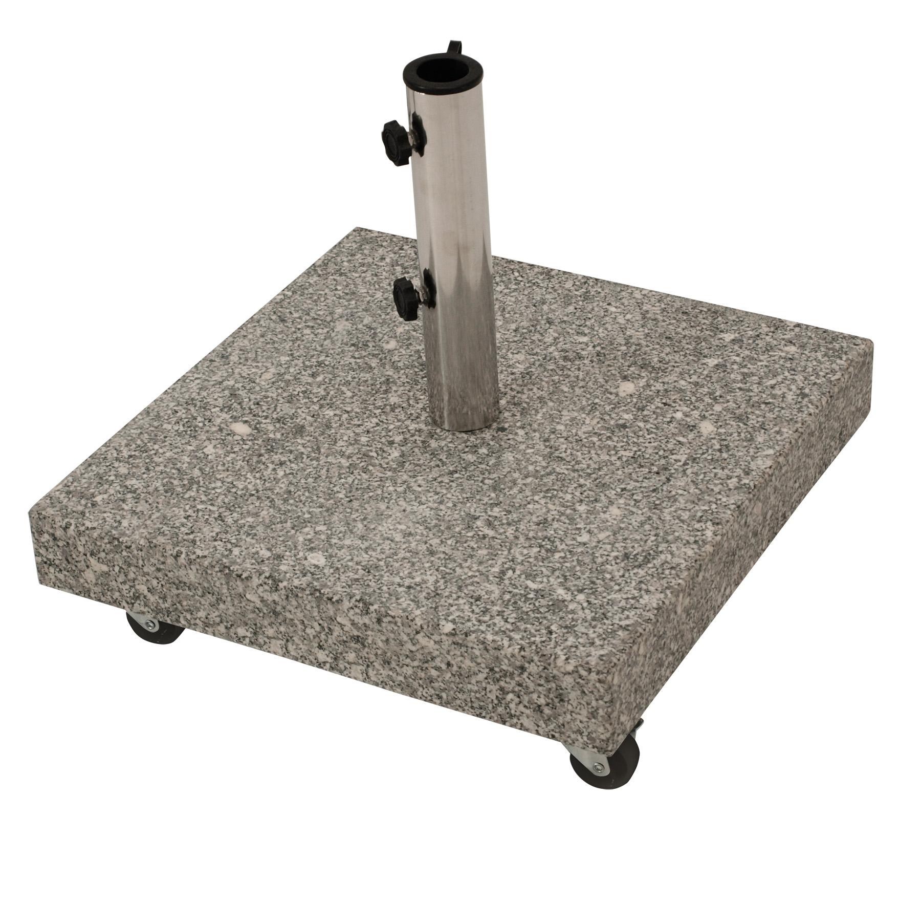 schirmst nder st nder granitst nder 50kg eckig 50x50cm mit vier rollen 2 wahl ebay. Black Bedroom Furniture Sets. Home Design Ideas