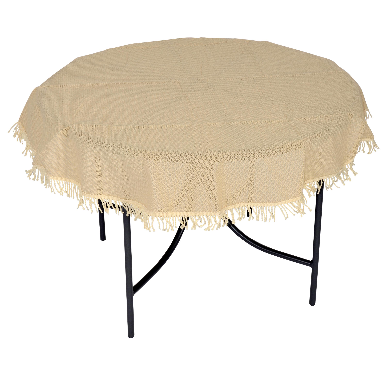 garten tischdecke antirutschdecke kunststoff beige 160cm rund wetterfest 4050747465286 ebay. Black Bedroom Furniture Sets. Home Design Ideas