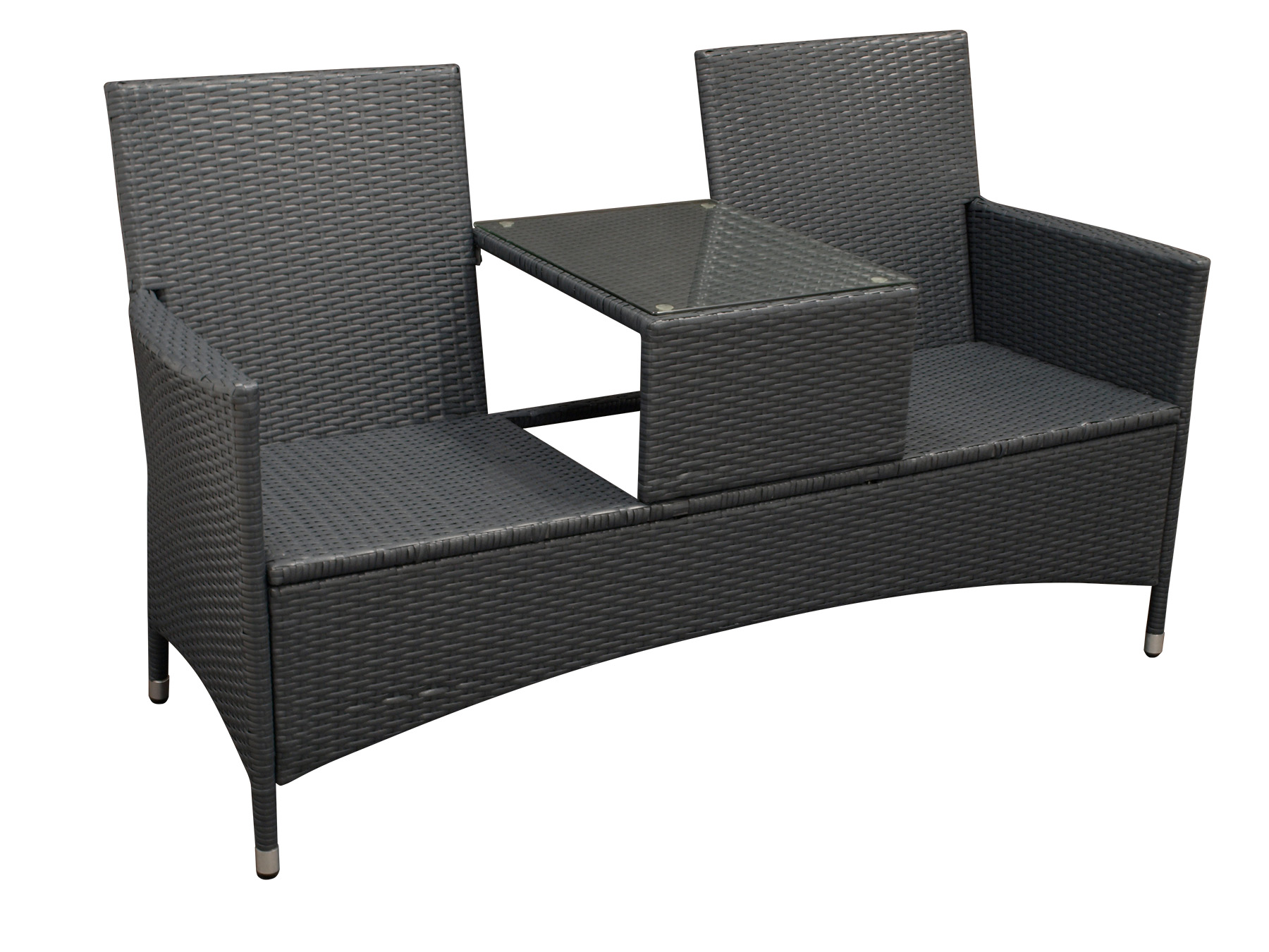 gartenbank rattanbank mit tisch gartenm bel bank san. Black Bedroom Furniture Sets. Home Design Ideas