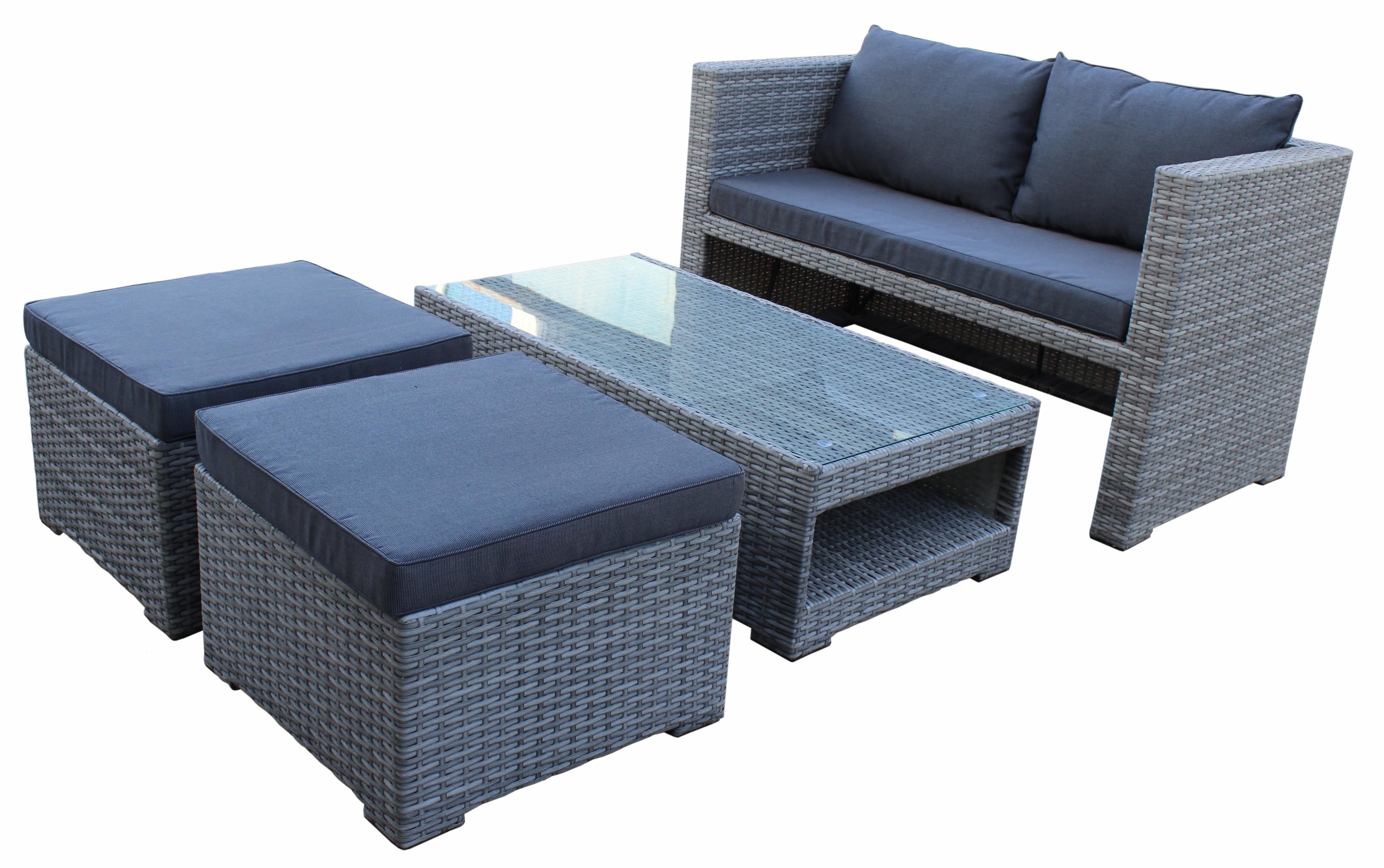 loungeset gartenm bel garnitur rattangarnitur sitzgruppe fiorino grau 2 wahl ebay. Black Bedroom Furniture Sets. Home Design Ideas