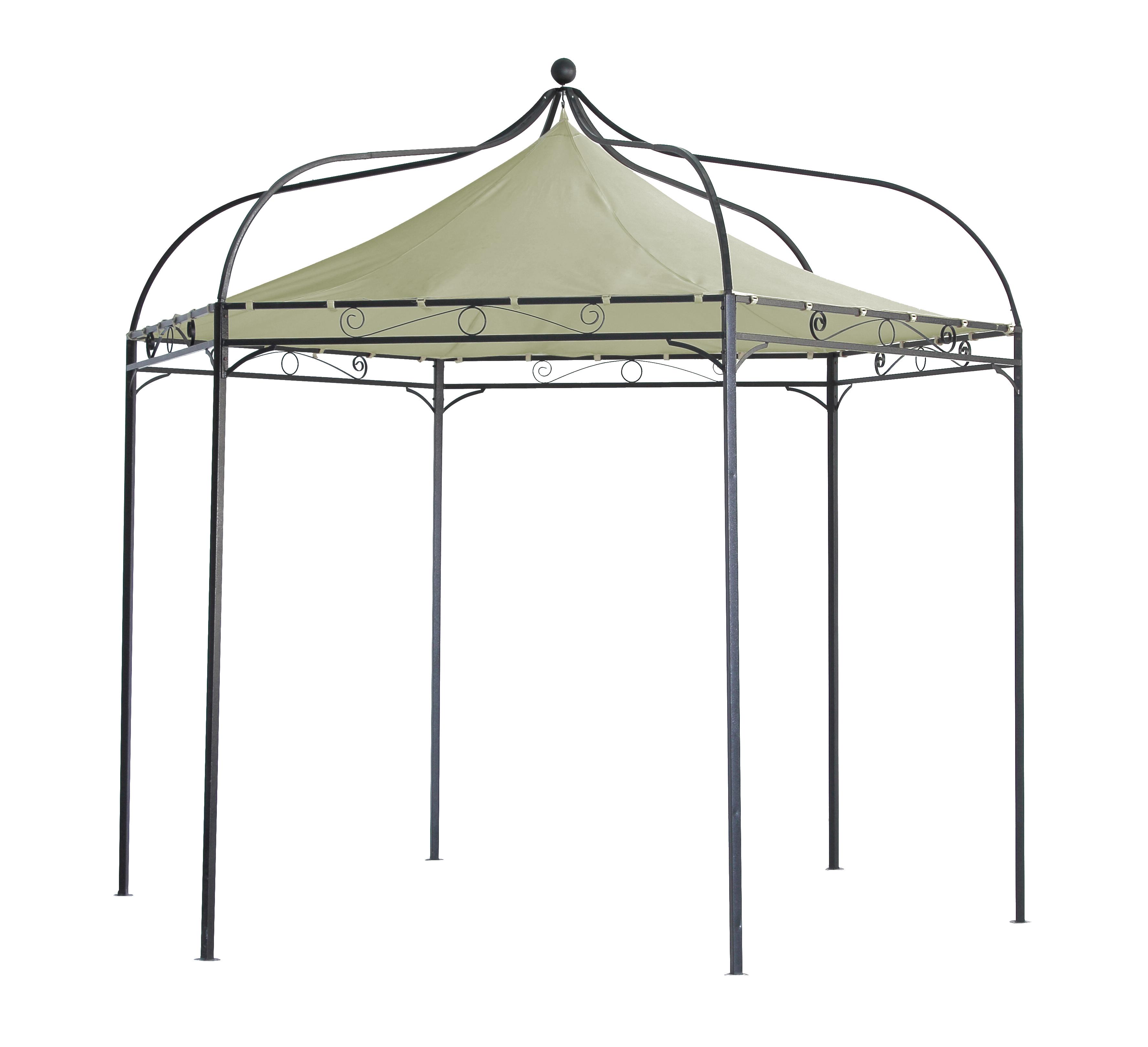 ersatzdach pavillondach dachplane f r pavillon modena 6 eck wasserdicht ecru ebay. Black Bedroom Furniture Sets. Home Design Ideas