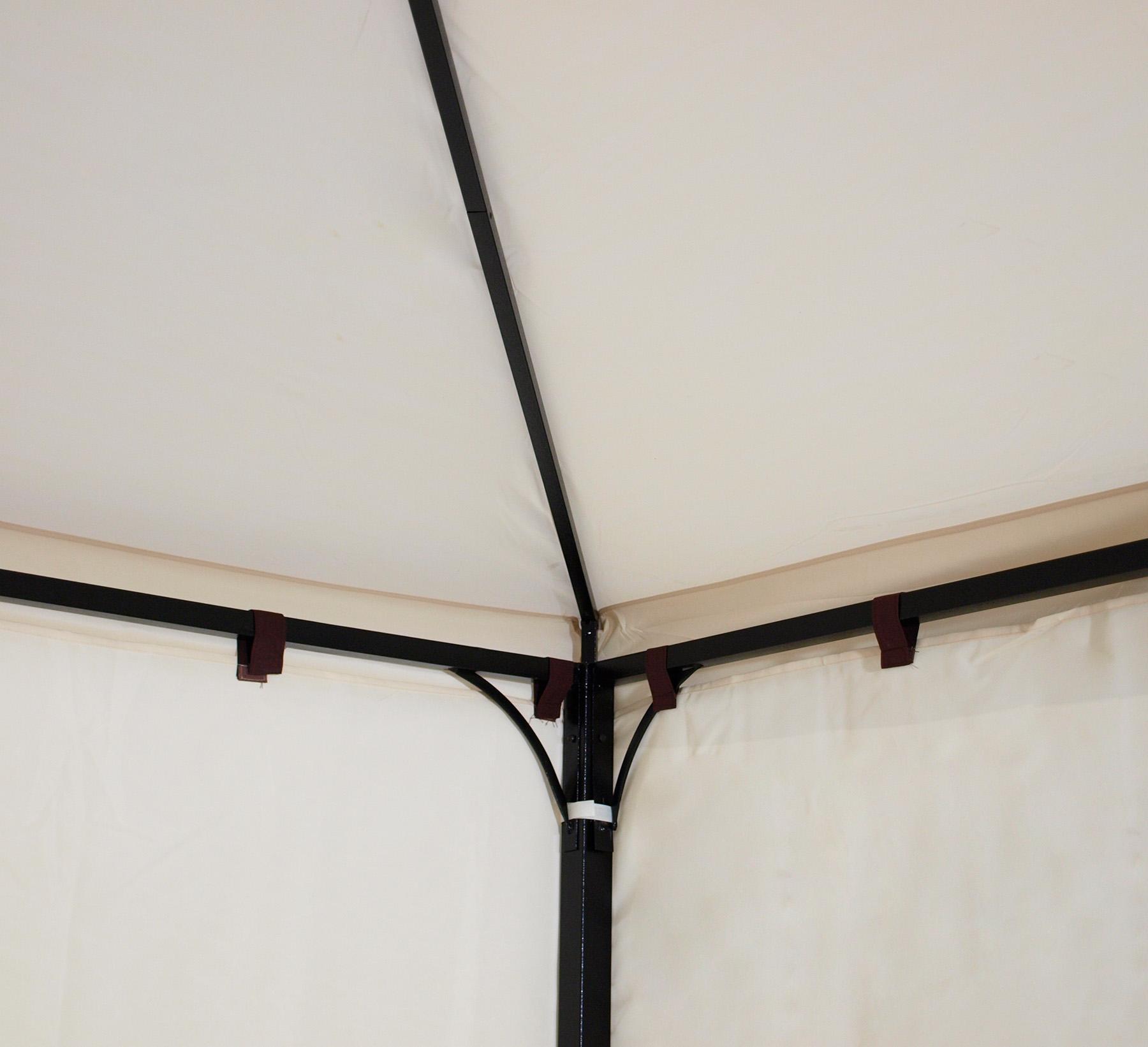 gartenpavillon pavillon metall gartenpavillion 3x3 meter. Black Bedroom Furniture Sets. Home Design Ideas