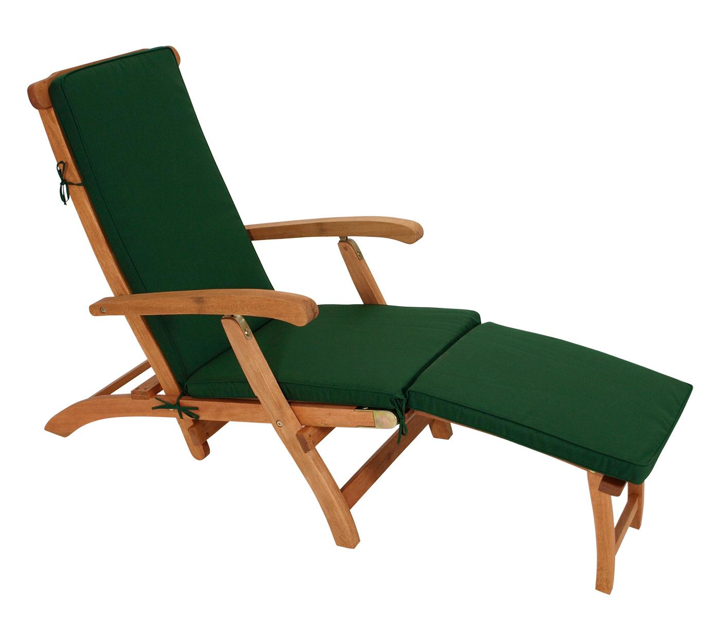 auflage liegestuhl deckchair polster deckchairauflage denver gr n 176x48cm ebay. Black Bedroom Furniture Sets. Home Design Ideas