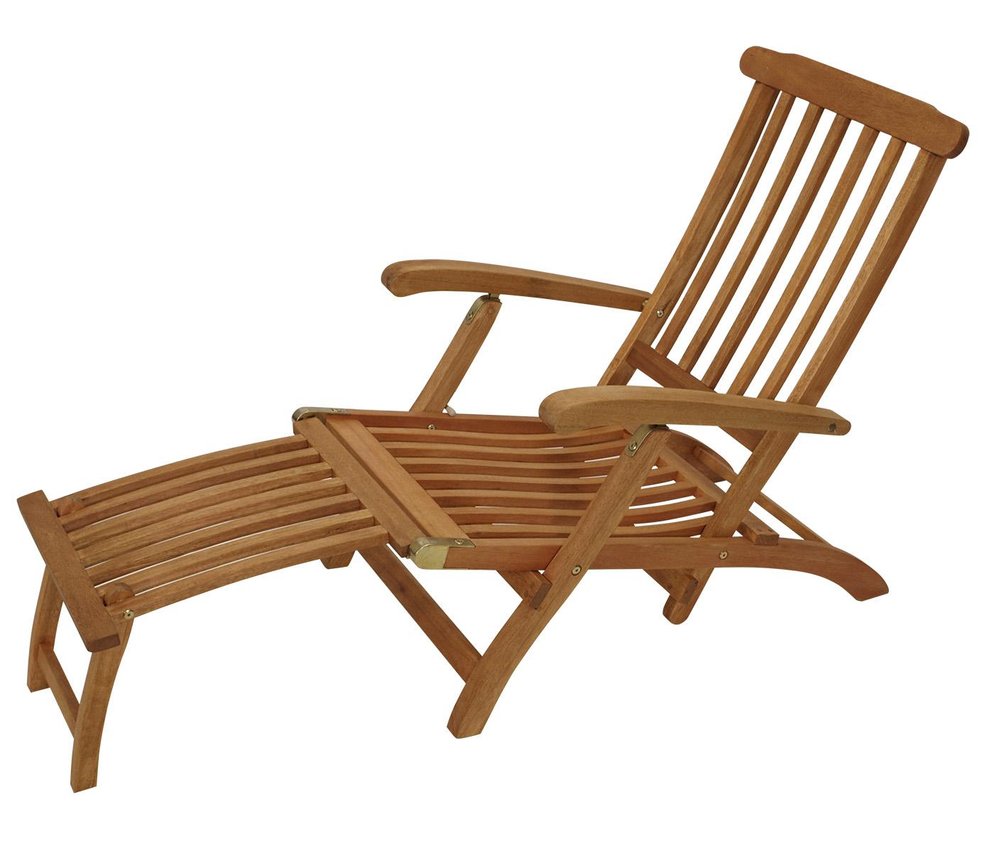 deckchair liegestuhl gartenm bel gartenliege steamer maine eukalyptus holz fsc ebay. Black Bedroom Furniture Sets. Home Design Ideas
