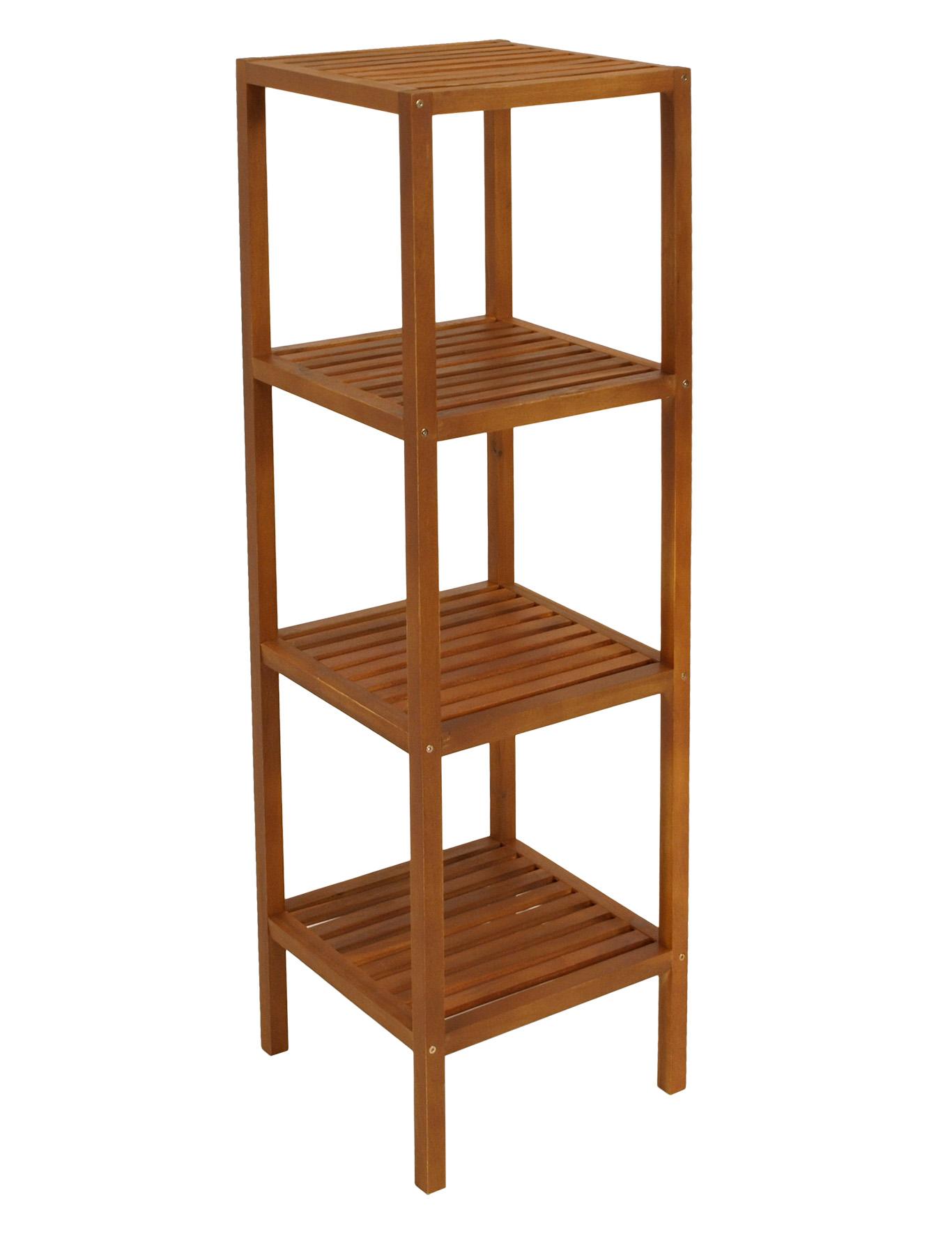 regal holzregal b cherregal holz akazie wetterfest 35x35x118cm innen und au en ebay. Black Bedroom Furniture Sets. Home Design Ideas