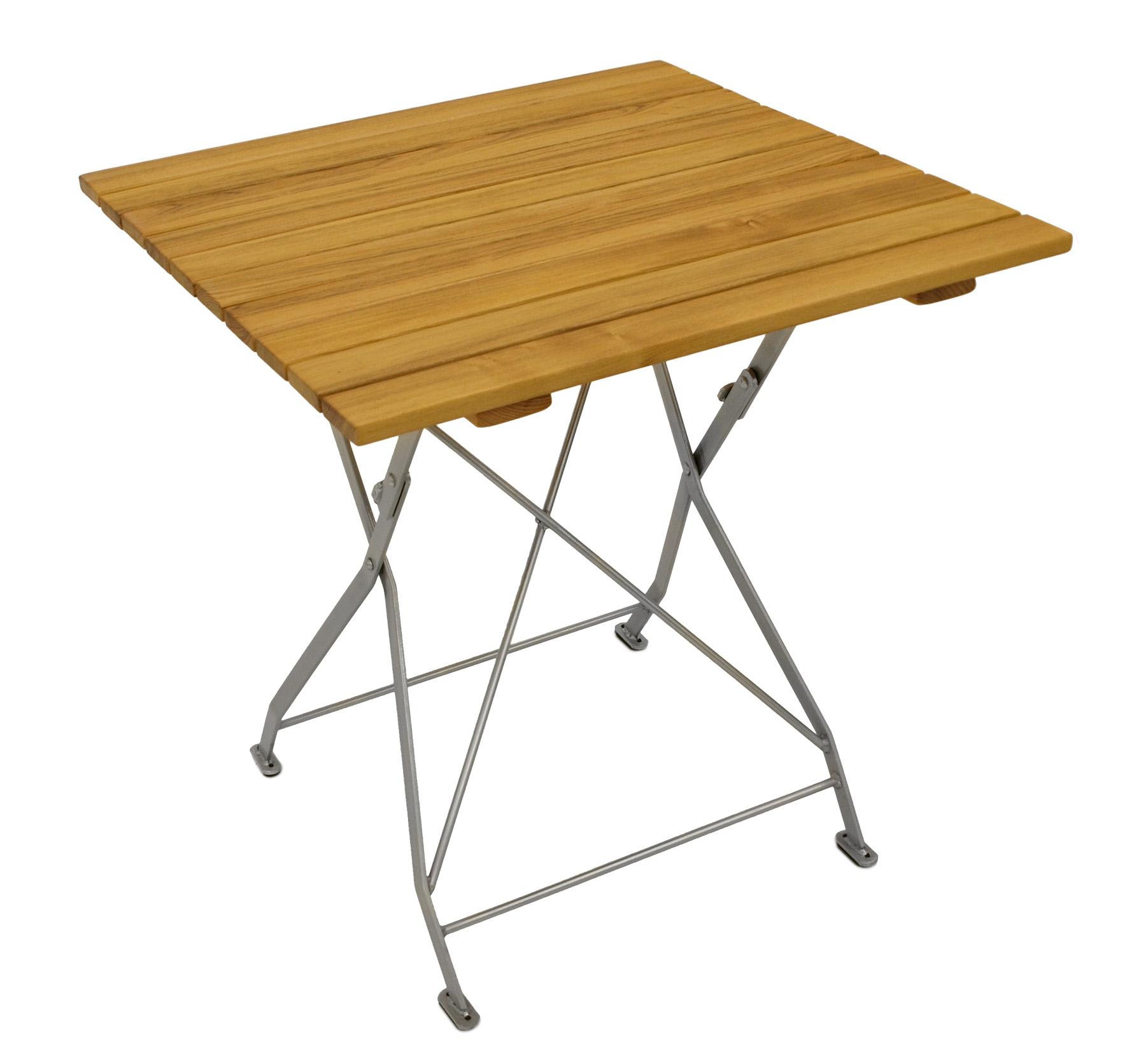 gartentisch klapptisch biergartentisch biergarten m bel tisch bad t lz 77x77cm ebay. Black Bedroom Furniture Sets. Home Design Ideas