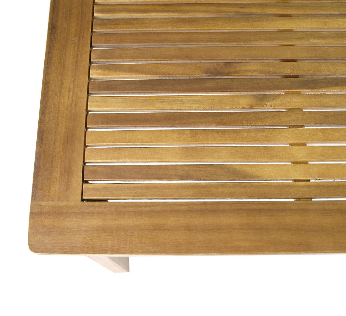 gartentisch holztisch gartenm bel tisch holz st vincent 80x140cm akazie fsc ebay. Black Bedroom Furniture Sets. Home Design Ideas