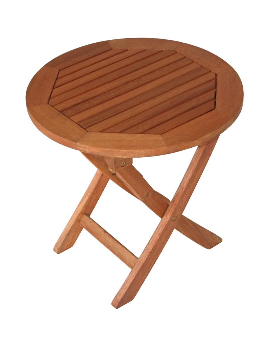 solider klapptisch beistelltisch 48cm rund klappbar eukalyptus 2 wahl ebay. Black Bedroom Furniture Sets. Home Design Ideas