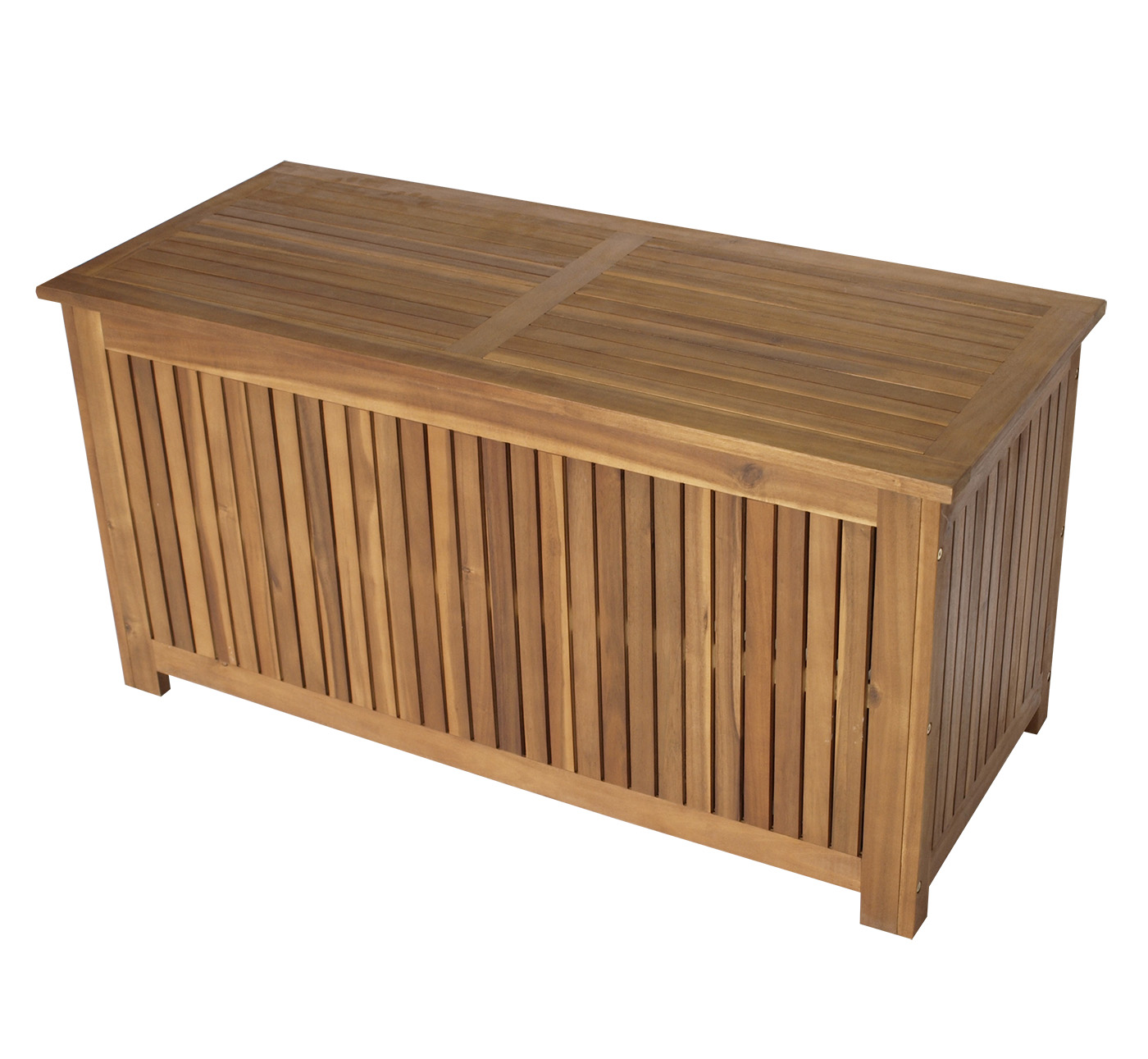 auflagenbox kissenbox kissentruhe gartentruhe gartenbox st vincent 117cm holz ebay. Black Bedroom Furniture Sets. Home Design Ideas