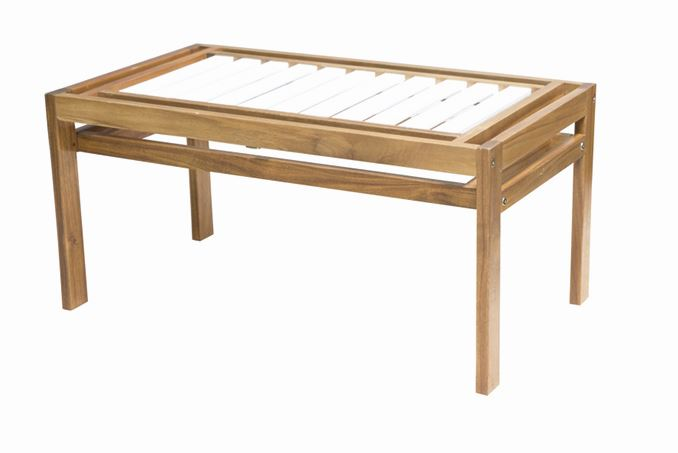 gartenbank gartenm bel bank hockerbank modular 2 sitzer siena garden akazie wei ebay. Black Bedroom Furniture Sets. Home Design Ideas